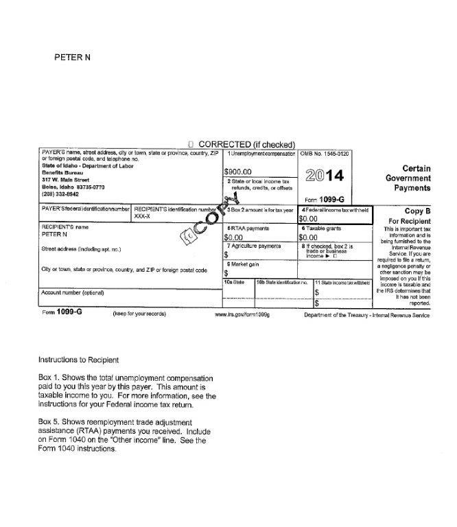 Why Did I Receive A 1099g Tax Form Idahowork